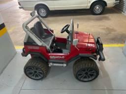 Título do anúncio: Carrinho Elétrico Jeep Infantil +3 Ano Gaucho 12v Peg Perego