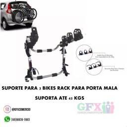 Rack p porta mala de suporte p 3 bikes