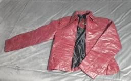 Jaqueta em couro legítimo, tamanho M