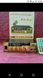 Amplificador de Som Com Bluetooth USB e Cartão de Memória e Rádio 500watt