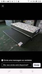 Cama box solteiro com auxiliar modelo luxo \\ da fabrica/ nova espuma celada