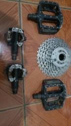 Peças Bike - pedal clip etc
