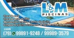 Título do anúncio: L&M piscinas (piscineiro(a) e manutenções)