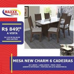 Mesas com cadeiras novas com ótimos preços