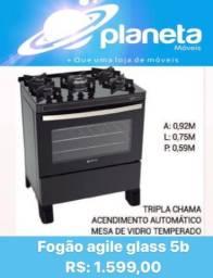 Título do anúncio: FOGÃO AGILE GLASS 5b PROMO / CACHORROS CACHORROS