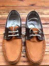 Sapato Mocassim em Couro Nº 38