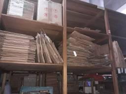 caixas de papelão semi novas - invertidas