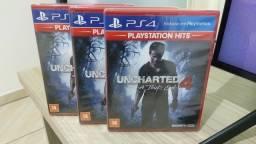 Uncharted 4 novo lacrado