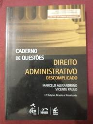 Título do anúncio: Direito Administrativo descomplicado caderno de questões