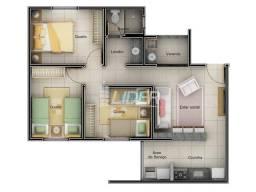 Apartamento à venda com 3 dormitórios em Shopping park, Uberlandia cod:20924
