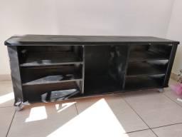 Rack de chão para tv com rodinhas 144x40x54cm