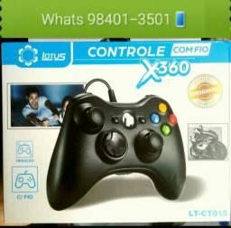 Promocao Relâmpago!<br>Controle Xbox 360 e PC Novos Garantia e Entregamos