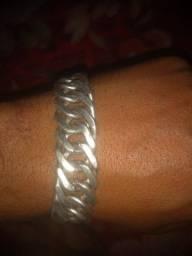 Título do anúncio: Cordão e pulseira de prata