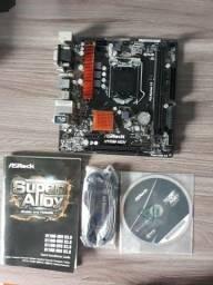 Placa mãe asrock h110m para PC gamer semi nova