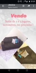 Título do anúncio: Sofá de 2 e 3 lugares, seminovos no precinho