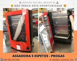 Assador de Frango/Carne 5 espetos - Progas   Matheus