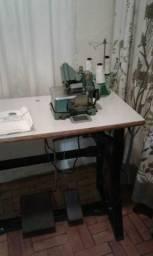 Máquina de costura Overlock semi industrial com mesa
