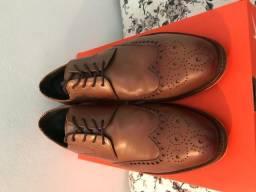 Sapato Ferracini, Couro Jade Whisky 2901C-tamanho 41 - utilizado apenas duas vezes