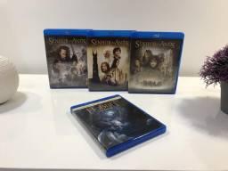 Usado, Blu Ray trilogia O Senhor dos Anéis - brinde Blu Ray O Robbit comprar usado  Araraquara
