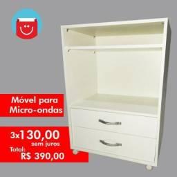 Móvel para Micro-ondas   MDF Branco