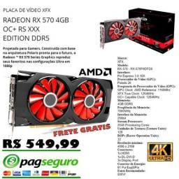 Placa de Vídeo RX 570 4 GB Gddr5 256 Bits * Só envio * - * Semi novo