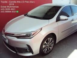 Toyota Corolla Altis 2.0 Flex (Aut.) (Couro) - Top de Linha - Completíssimo - 2018