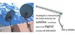 Faço instalação e manutenção de antenas tv