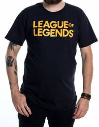 Camiseta Dupla Face Lol Logo League of Legends