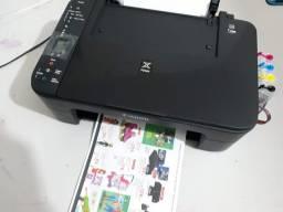 Impressora Canon com wi-fi e Bulk Ink instalado ( usada )