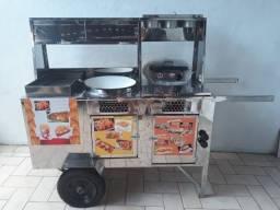 Carrinho 3x1 (Hot dog, batata frita, salgados)