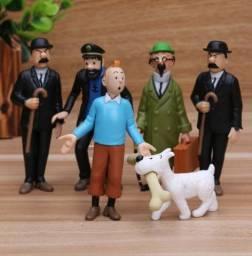 6pcs Bonecos As Aventuras De Tintin Miniaturas Retro