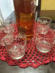 Copos de whisky de cristal lapidados