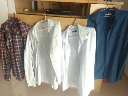 Lote 4 camisas Sociais manga longa cores sortidas tamanho GG