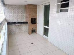 Amplo apartamento de 1 dormitório, churrasqueira no terraço no Forte em Praia Grande