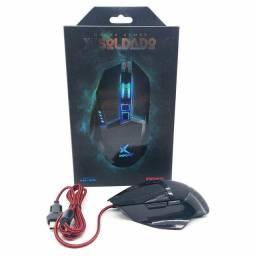Mouse Gamer Soldado USB Iluminação LED