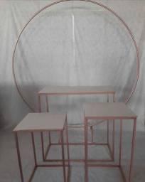 Kit mesas de decoração para festas.
