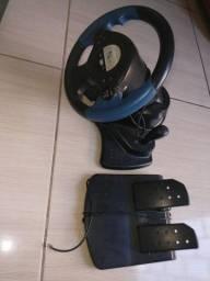 Volante com acelerador para PS2