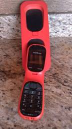 Telefone sem fio Intelbrás TS 80 V = Vermelho Retrô
