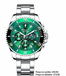 Relógio Masculino Importado Original Wishdoit Cronógrafo Lindíssimo