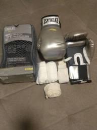 Conjunto Luvas boxe - Everlast, com faixas de proteção