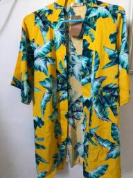 Camisa Floral - Manga Curta