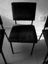 Título do anúncio: 10 cadeiras em veludo, acochoadas e confortaveis