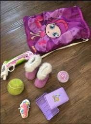 Lote de 26 itens para bonecas e outros acessórios