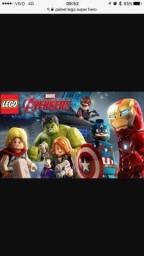 Título do anúncio: Painel banner lona Lego vingadores para festa 1,50x 1,0m
