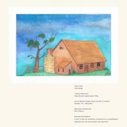 Pinturas em aquarela, nanquim e carvão e lápis