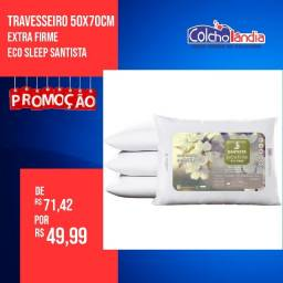 Travesseiro Eco Sleep Santista apenas 49,99