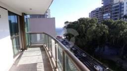 Título do anúncio: Apartamento com 1 quarto (suíte), de frente, com vista lateral mar e porteira fechada