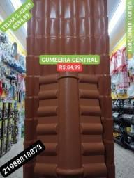Cumeeira CENTRAL PVC para TELHA PLAN 6 ondas