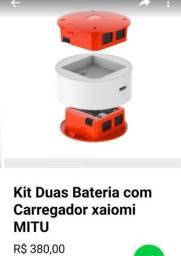 Título do anúncio: Baterias do MiTu com carregador duplo