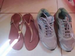 Sandália e tenis